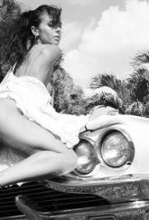 Adeline Lange et son modèle des années 50