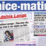 Adeline Lange dans nice matin